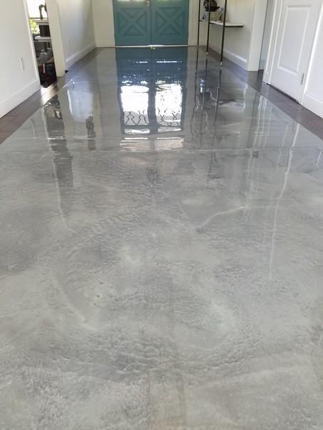 Metalic Epoxy Kitchen Floor
